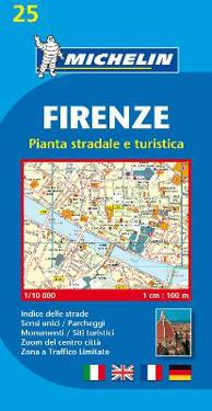 Florens Michelin 25 stadskarta : 1:10000