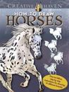 How to Draw Horses Adult Coloring Book