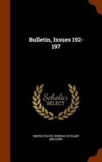 Bulletin, Issues 192-197