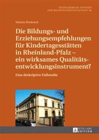 Die Bildungs- Und Erziehungsempfehlungen Fuer Kindertagesstaetten in Rheinland-Pfalz - Ein Wirksames Qualitaetsentwicklungsinstrument?: Eine Deskripti