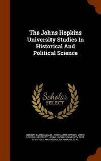 The Johns Hopkins University Stus In Historical And Political Science Jpg