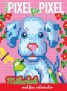Måla pixel för pixel : målarbok med fina rutmönster (hund)