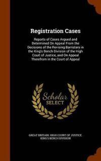 Registration Cases