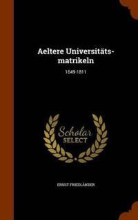 Aeltere Universitats-Matrikeln