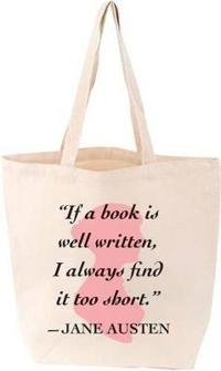 Jane Austen Quote Lovelit Tote