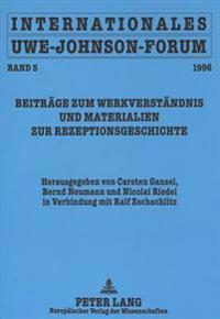 Internationales Uwe-Johnson-Forum. Band 5 (1996)