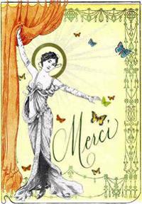 Merci - Greeting Cards, Pkg of 6: Greeting: Merci (Blank Inside)