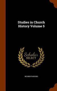 Studies in Church History Volume 5