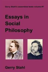 Essays in Social Philosophy