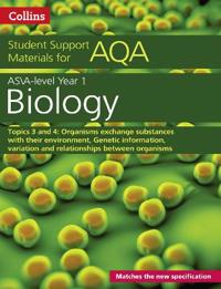 Collins Student Support Materials - Aqa a Level Biology Year 1 & as Topics 3 and 4