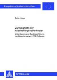 Zur Dogmatik Der Anschaffungsnebenkosten: Unter Besonderer Beruecksichtigung Der Bilanzierung Von Erp-Software