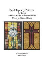 Bead Tapestry Patterns for Loom a Dove Above in Stained Glass Cross in Stained Glass