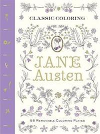 Classic Coloring: Jane Austen: 55 Removable Coloring Plates