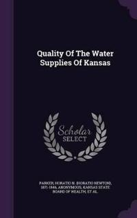 Quality of the Water Supplies of Kansas