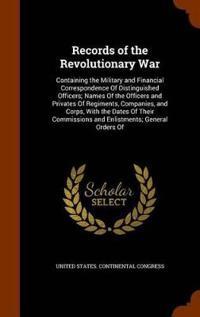 Records of the Revolutionary War