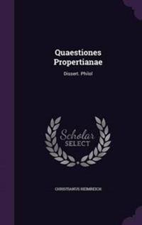 Quaestiones Propertianae