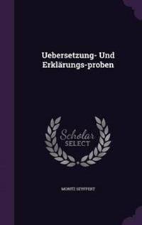 Uebersetzung- Und Erklarungs-Proben