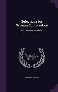 Selections for German Composition