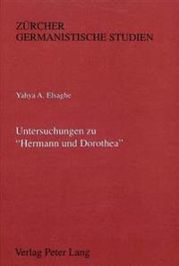 Untersuchungen Zu -Hermann Und Dorothea-