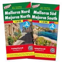 Mallorca Nord und Süd, Set, Autokarte 1:50.000