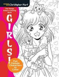 The Manga Artist's Coloring Book: Girls!
