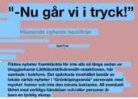 Nu går vi i tryck! : hisnande nyheter från Lättkläckt&Svårsmält red.
