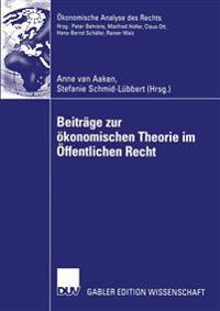 Beitrage Zur Okonomischen Theorie Im Offentlichen Recht