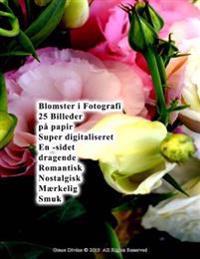 Blomster I Fotografi 25 Billeder På Papir Super Digitaliseret En -Sidet Dragende Romantisk Nostalgisk Mærkelig Smuk