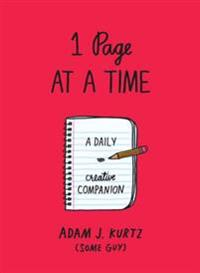 1 Page at a Time (Red): A Daily Creative Companion