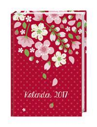 Floral 17-Monats-Kalenderbuch A5 - 2017