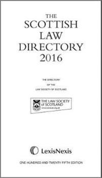 The Scottish Law Directory: The White Book 2016