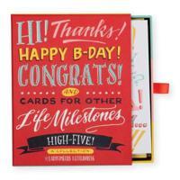 Ladyfingers Letterpress High Five Greeting Card Assortment