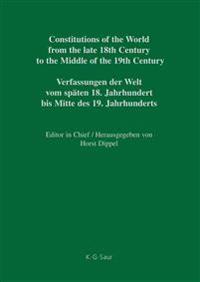 National Constitutions, Constitutions of the German States Anhalt-bernburg - Baden / Nationale Verfassungen, Verfassungen Der Deutschen Staaten Anhalt-bernburg - Baden