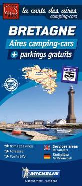 Brittany Map France - Motorhome Stopovers