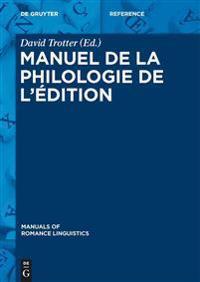 Manuel de la Philologie de l' dition