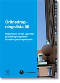 Gränsdragningslista 06. Hjälpmedel för att upprätta gränsdragningslistor i förvaltningsentreprenader
