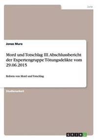 Mord Und Totschlag III. Abschlussbericht Der Expertengruppe Totungsdelikte Vom 29.06.2015