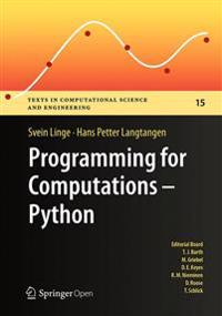 Programming for Computations - Python