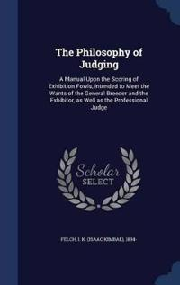 The Philosophy of Judging