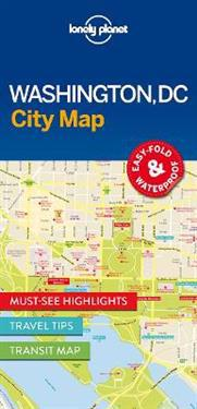 Lonely Planet City Map Washington, DC