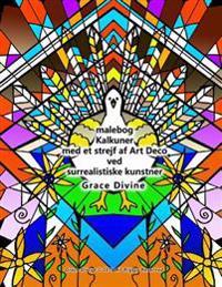 Malebog Kalkuner Med Et Strejf AF Art Deco Ved Surrealistiske Kunstner Grace Divine