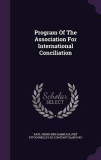 Program of the Association for International Conciliation