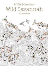 Millie Marotta's Wild Savannah: 50 Postcards
