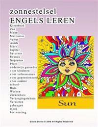 Zonnestelsel Engels Leren Kleurboek ZON Maan Mercurius Venus Aarde Mars Jupiter Saturnus Uranus Neptunus Pluto Onderwijs Gereedschap Voor Kinderen Voo
