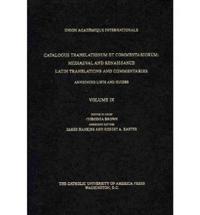 Catalogus Translationum et Commentariorum, Volume 9