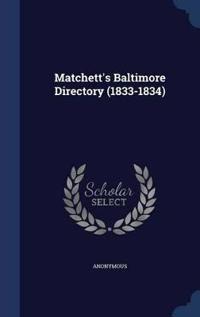 Matchett's Baltimore Directory (1833-1834)