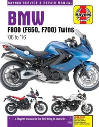 Haynes BMW F800 (F650, F700) Twins '06 to '16 Service and Repair Manual