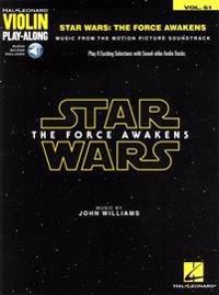 Star Wars: The Force Awakens: Violin Play-Along Volume 61