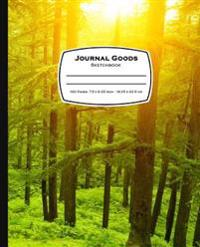 Journal Goods Sketchbook: Green Forest Design, 7.5 X 9.25, 160 Pages for Sketching, Drawing, Writing and More, Features Conversion Chart, Unique
