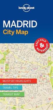 Lonely Planet City Map Madrid